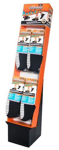 Clean Boots Point of Purchase (POP) Display for Stores