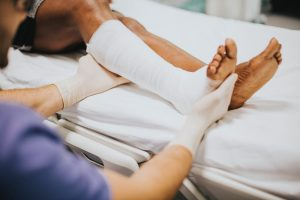 Slips, trips and falls - Foot Injury