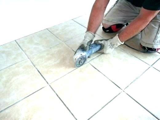 how to regrout ceramic tile floor